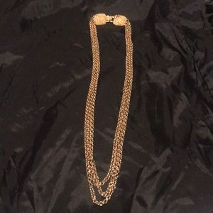 Jewelry - 3 strand link necklace with beautiful clasp